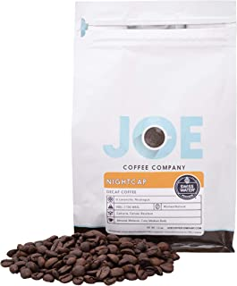 Joe Coffee 'Nightcap' House Decaf Blend, Decaffeinated Whole Bean, Chemical-free Swiss Water decaffeination process, 12 oz Bag, Perfect for Drip, Espr