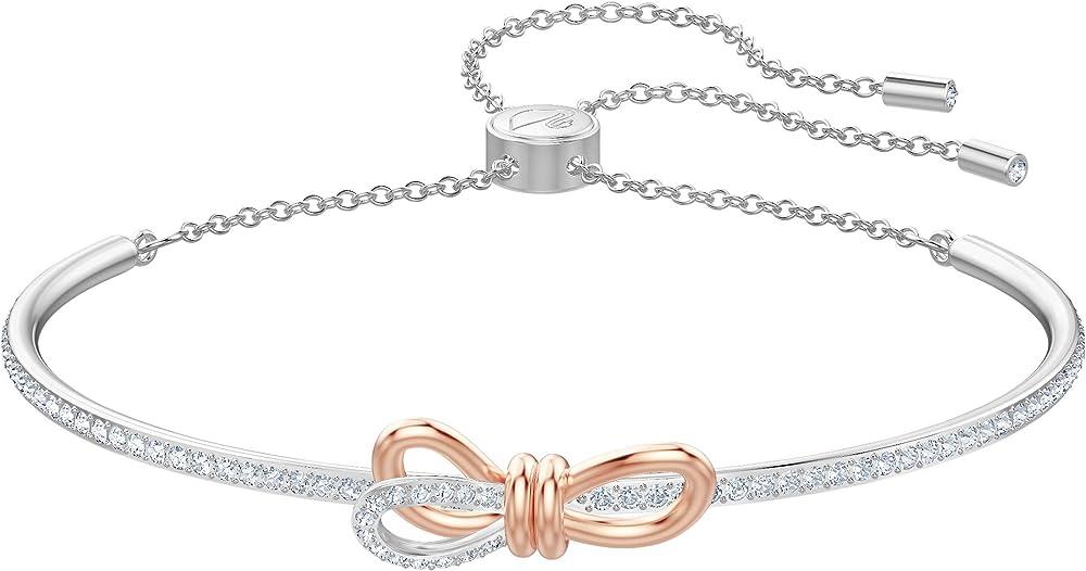 Bracciale da donna di swarovski  in lega di metalli anallergizzante con placcatura rodio e oro rosa con pavé 5447079