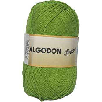 Hilo Acrílico Ovillo de Lana Algodón Premium perfecto para DIY y tejer a mano (Color Kiwi 100 g, aprox. 220 metros): Amazon.es: Hogar