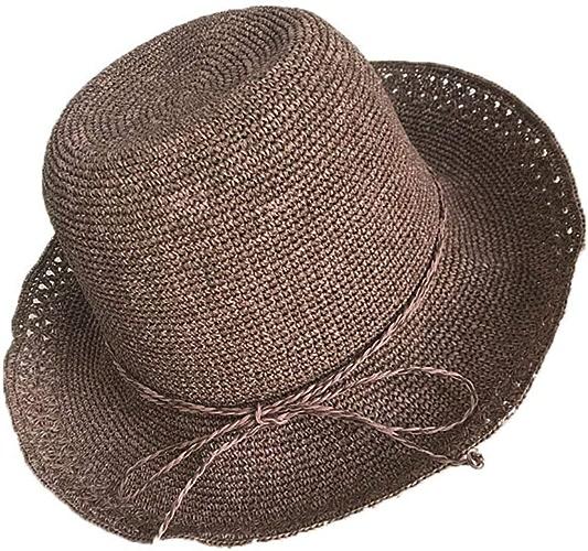 CFHJN Home Bonnet Double en Crochet pour Femme avec Chapeau de Dentelle pour Femmes pouvant être plié dans Le Chapeau de Pare-Soleil