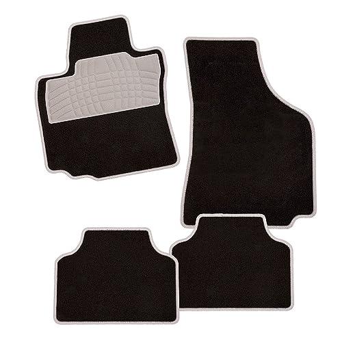 CarFashion 238962 Auto Alfombra Soporte sin Juego de alfombrillas para Matte plana Colori-Textil,