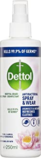 Dettol Spray & Wear Surface Spray Disinfectant Pink Water Lily, 250 milliliters