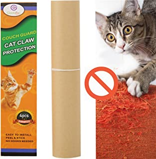 G GEEKEEP Pet Couch Protector – 4 Pieces Clear Self-Adhesive Couch Guard DIY