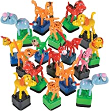 ArtCreativity Dancing Animal Toys for Kids - Set of 12 - 4.5 Inch Dance Toy Figurines - Cool Birthday Party Favors - Fun Goody Bag Fillers - Carnival Prize - Great Gift Idea for Boys and Girls