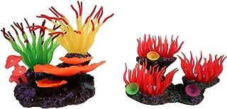 Mckiftys Artificial Coral Set Decoration for Aquarium Beautiful Color Ornament for Fish Tank