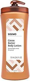 Amazon Brand - Solimo Cocoa Butter Body Lotion, 24.5 Fluid Ounce