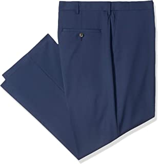 Haggar Men's Big and Tall B&t Solid Gab 4-Way Stretch Straight Fit Flat Front Pant