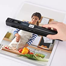MUNBYN Portable Scanner, Photo Scanner for Documents Pictures Pages Texts in 900 Dpi, Flat Scanning, Include 16G SD Card, ...