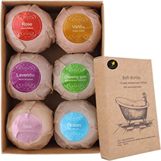 Venus Visage Bath Bombs Gift Set, 6 Organic & Natural Bath Bombs, Handmade Bubble Bath Bomb Gift Set, Lush Fizzy Spa Moisturizes Dry Skin, Bubble Baths, Kit Ideas for Girlfriends, Women, Moms