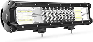 LED Light Bar Nilight 15Inch 216W Triple Row Flood Spot Combo 21600LM Led Bar Driving Lights Boat Lights Led Off Road Lights for Trucks,2 Years Warranty