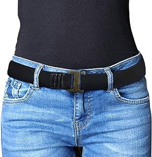 Adjustable Stretch Belt for Men/Women No Show Flat Buckle Elastic Belts Invisible Web Strap Belt for Jeans Pants
