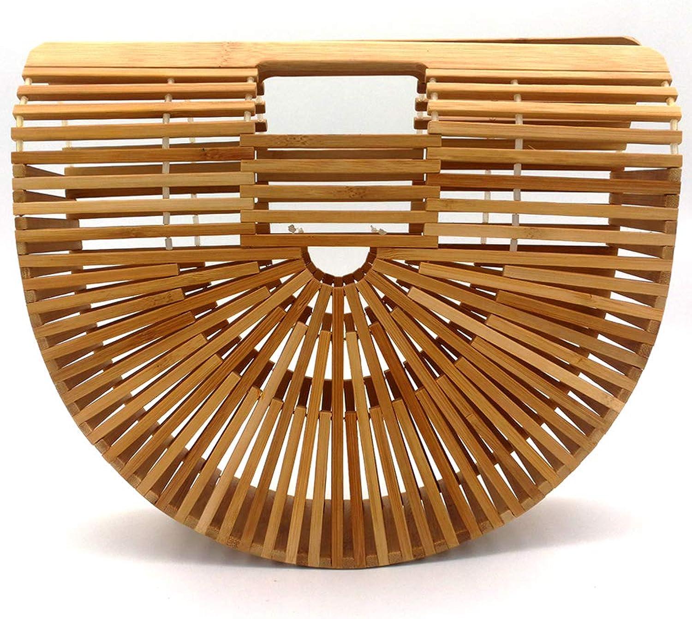 Bamboo Handbag, ALLYMAGIC Womens Handmade Tote Bag Bamboo Purse for Summer Beach