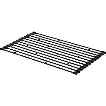 山崎実業 折り畳み水切りラック S ブラック 約W26×D42×H0.8cm タワー 7838
