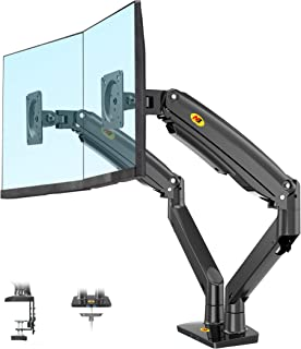 NB North Bayou Dual Monitor Desk Mount Stand Full Motion Swivel Computer Monitor Arm Fits 2 Screens up to 32'' with Load C...