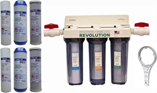 Reverse Osmosis Revolution Whole House 3-Stage Water Filtration System, 3/4