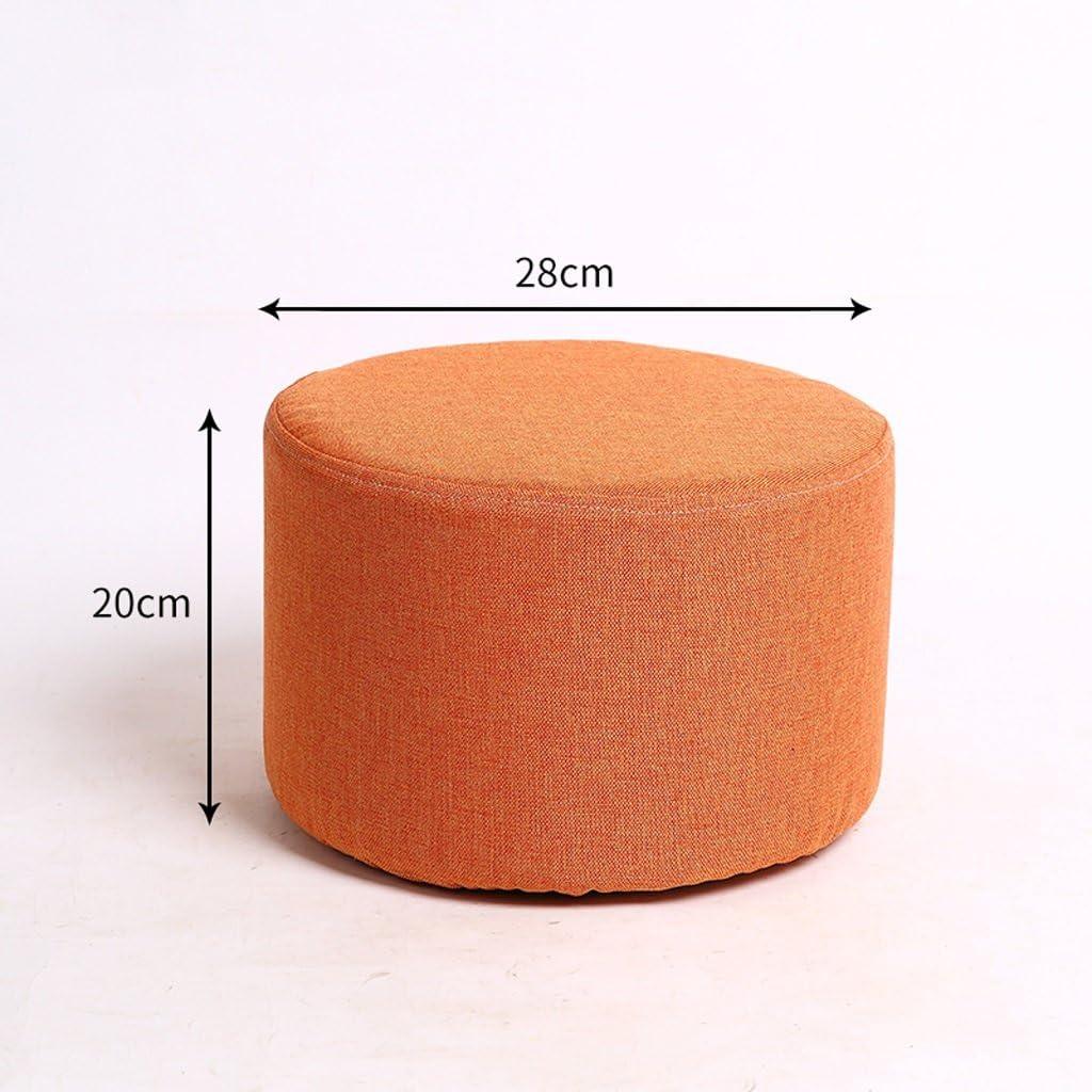 HLQW Petit tabouret en bois massif pour adulte Motif chaussures Bleu Orange