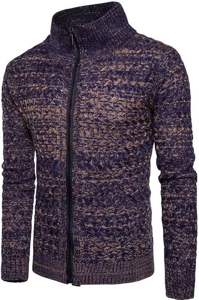 MODOQO Men's Zip Up Cardigan Sweaters Long Sleeve Warm Soft Knitwear Sweatshirt