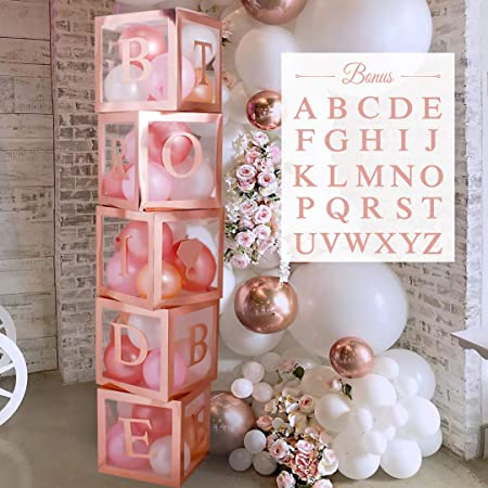 4Pcs Transparent Birthday Balloon//Gift Decor Boxes Wedding BABY Shower Hen Party