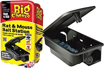 The Big Cheese Rat and Mouse Bait Station (Durable, Lockable, Reusable Bait Box))