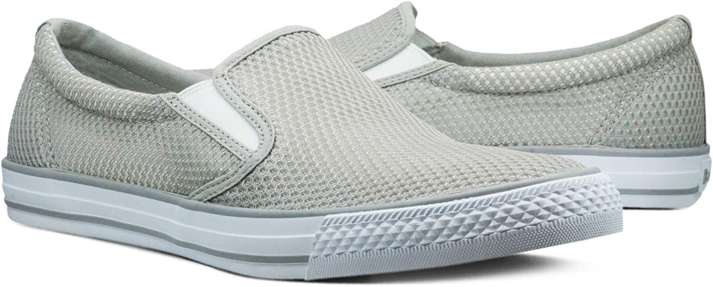 Burnetie Men's Grey Skid ll mesh Sneaker