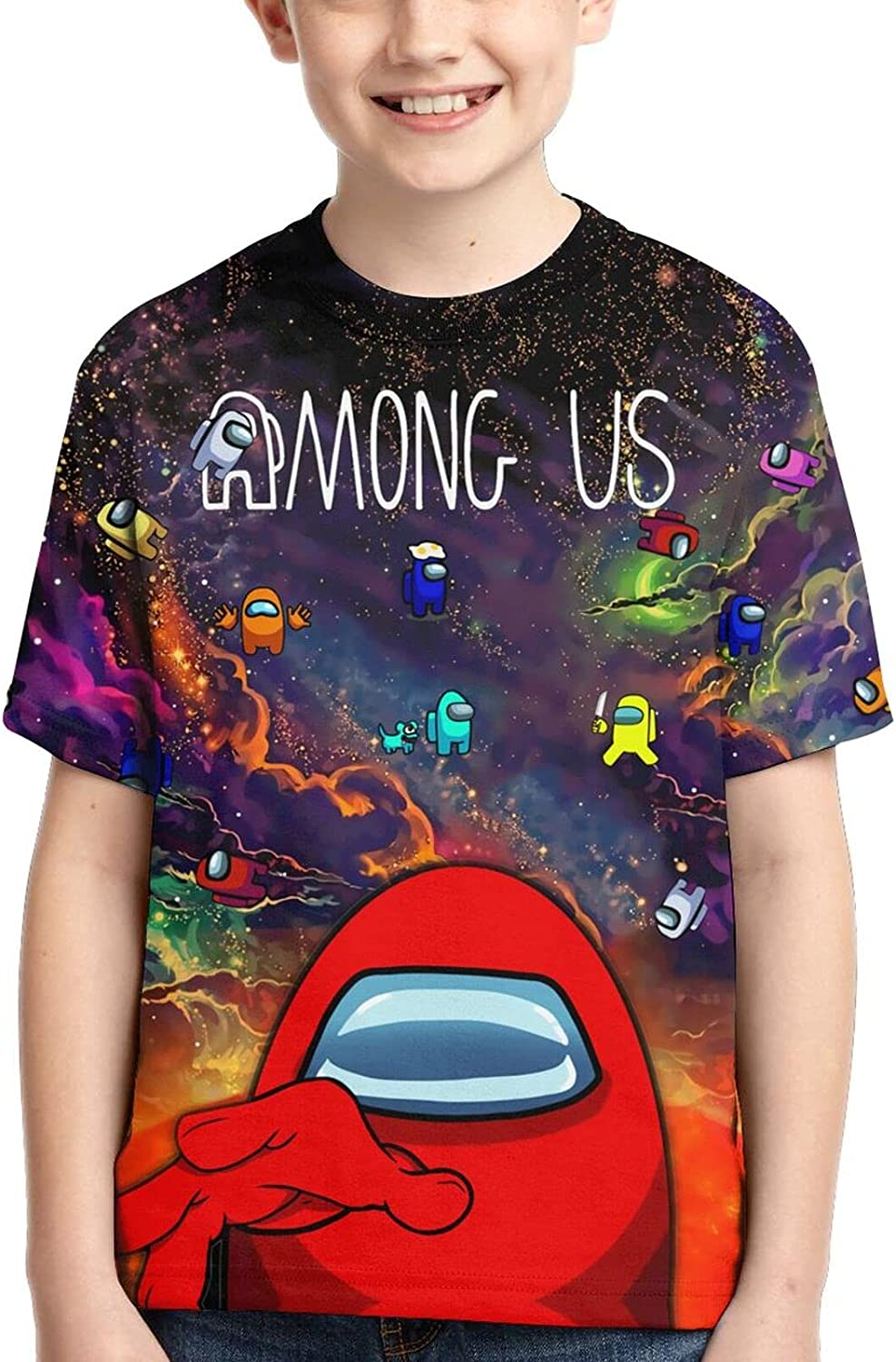 Boys and Girls Shirt,Fashion Short Sleeve Tops T-Shirt for Kids and Teens Youth
