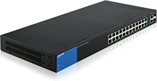 Linksys Business LGS326P 24-Port Gigabit PoE+ (192W) Smart Managed Switch + 2x Gigabit SFP/RJ45 Combo Ports, LGS326P-UK