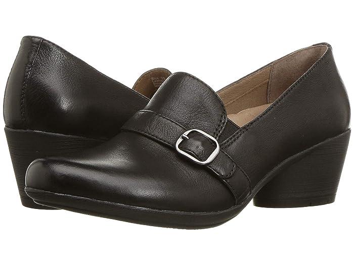 70s Shoes, Platforms, Boots, Heels Dansko Rosalie Black Burnished Nubuck Womens Shoes $97.99 AT vintagedancer.com