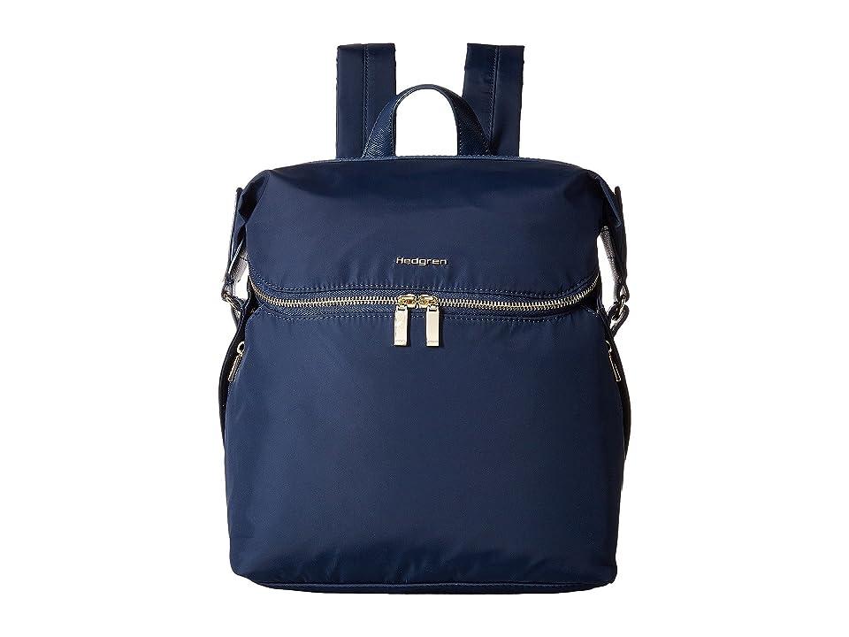 Hedgren Paragon Medium Backpack (Dress Blue) Backpack Bags