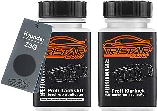 TRISTARcolor Autolack Lackstift Set für Hyundai Z3G Micron Grey Metallic Basislack Klarlack je 50ml