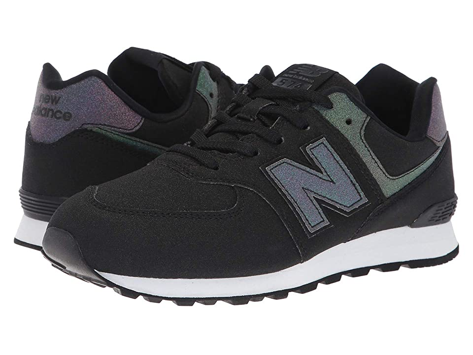 New Balance Kids GC574v1 (Big Kid) (Black/Multi Iridescent) Girls Shoes