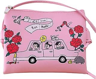 LALANG Cartoon Printed Women Graffiti Handbag Mini Crossbody Shoulder Bag Casual Coin Purse