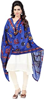 Indian Dresses Store Hanu Creations Women's Kutch Mirror Work Cotton Dupatta Chakachak