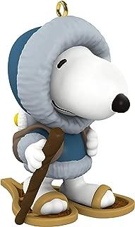 Hallmark Keepsake Mini Christmas Ornament 2019 Year Dated Peanuts Winter Fun with Snoopy Snowshoeing Miniature, 1.04