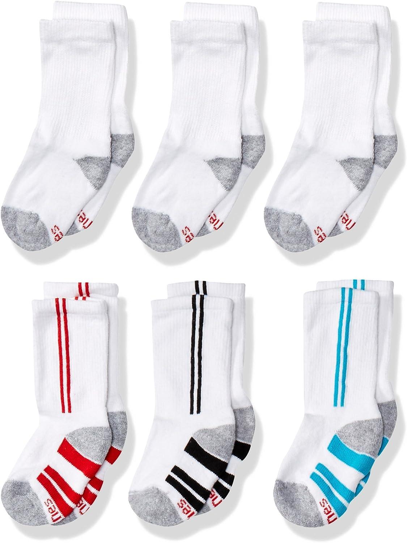 Hanes Boys' 6-Pack EZ Short Crew Socks