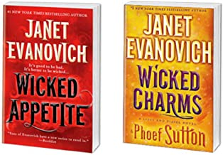 Janet Evanovich - Bantam Books Hardcover Novels - Wicked Appetite & Wicked Charms - Bundle of 2