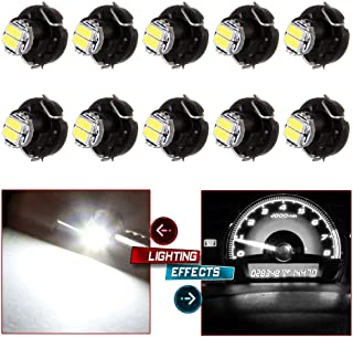 cciyu 10 Pack Blue T3 2-3014 SMD Neo Wedge 35852-SEP-A02 A/C Climate Control Light Instrument Panel Gauge Cluster Dashboard LEDBulbs (white)