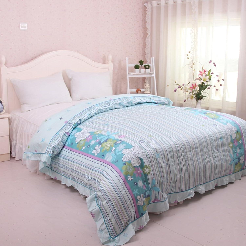 Cotton Quilt Cover Single Quilt Cover Pastoral Single Twin Cotton Quilt-H 220  240cm(87x94inch)