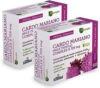 Cardo mariano complex 9.725 mg 60 cápsulas con boldo, milenrama, alcachofa y cúrcuma. (Pack 2 unid.)