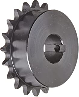 "Tsubaki 41B20F-1 Finished Bore Sprocket, Single Strand, Inch, #41 ANSI No., 1/2"" Pitch, 20 Teeth, 1"" Bore"