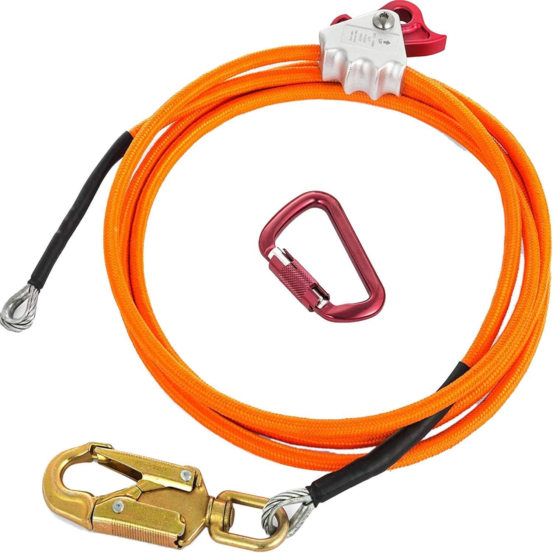 Nrpfell Kit de LíNea Flip de NúCleo de Alambre de Acero Cuerda de Posicionamiento de Escalada Ajustable para Arbolistas Escaladores Trepadores de áRboles Al Aire Libre