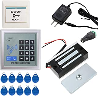 UHPPOTE Door Access Control System RFID Home Security Kit with 130LB Electromagnetic Lock