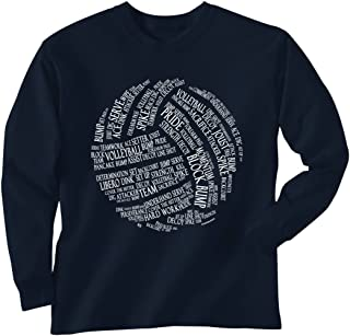 Premium Volleyball T-Shirt Long Sleeve | Volleyball Words | Youth to Adult Sizes | Multiple Colors