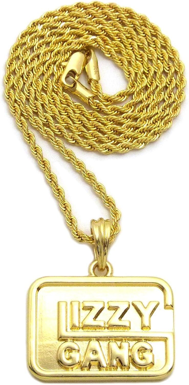 "Hip Hop Bigger Sniper Gang SG Pendant 24/"" Box,Rope,Cuban Chain Necklace XZP68"