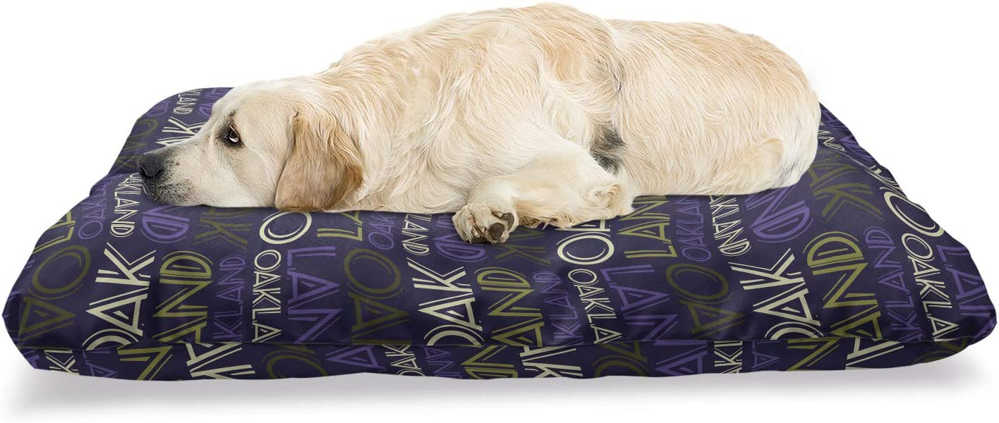 Ambesonne Oakland Pet Bed Nippon regular agency Repetitive At the price of surprise and Graphic Modern Letteri
