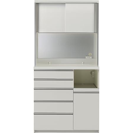 パモウナ 食器棚KG パールホワイト 幅100×高さ203×奥行50 日本製 KGR-1000R