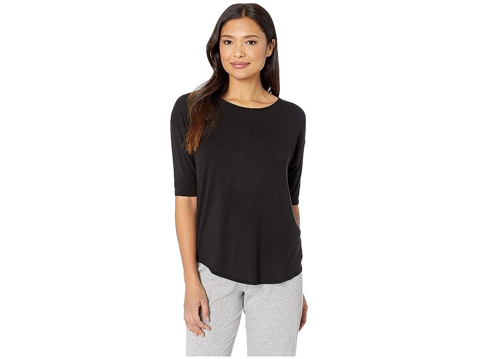 Donna Karan Modal Jersey Sleep Top (Black) Women's Pajama