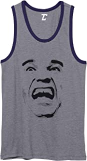Arnold Face - Movie Star Funny Scream Unisex 2-Tone Tank Top