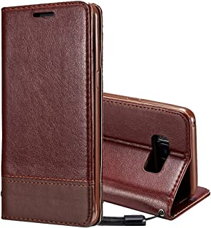 2018 Phone Covers for Samsung Galaxy S8 Plus / G9550,Double-Sided Absorption Splicing Horizontal Flip Leather Case with Holder & Card Slots & Lanyard (Color : Brown)
