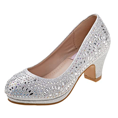 45857bfe4 Nanette Lepore Girls Low Heel Rhinestone Dress Shoes