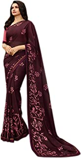 Designer Beautifull Printed Saree for Womens With Unstitched Blouse